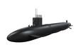 Black Submarine Isolated - 72533114