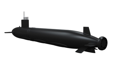 Black Submarine Isolated
