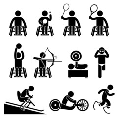 Disable Handicap Sport Paralympic Games Cliparts