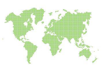 Image of modern optimally dotted world map illustration