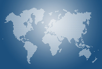 Image of modern optimally dotted world map illustration