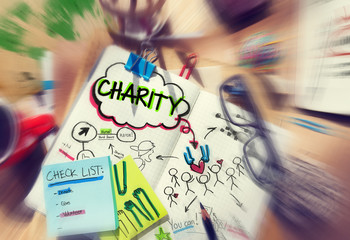 Check List Sharing Help Charity Concepts