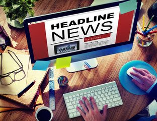 Online Headline News Internet Working Office
