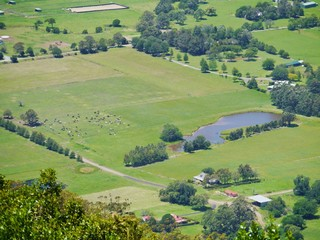 View of the wash-land of the Shoalhaven river near Nowra