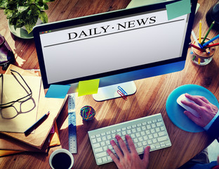 Digital Internet Online Daily News Concepts