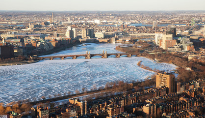 The view of Charles river in Boston, USA.