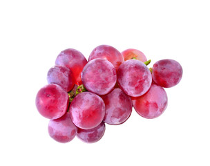 Grapes with white background