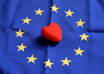 heart with Europe flag