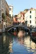 Venedig, Kanal mit Brücke und Spiegelung