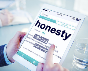 Digital Dictionary Honesty Values Integrity Concepts