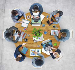 Group of Business People Meeting Photo Illustration