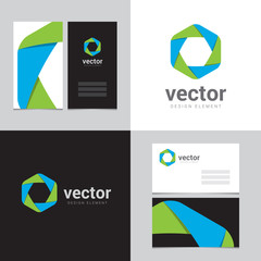 Design element with two business cards - 06