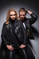 Hot fashion couple posing for the camera