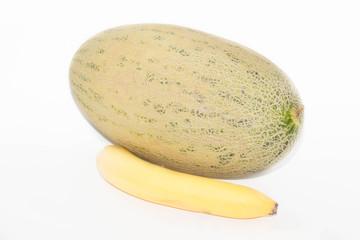 дыня и банан
