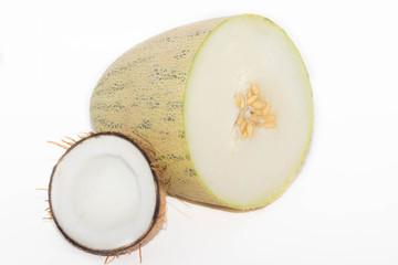 кокос и дыня