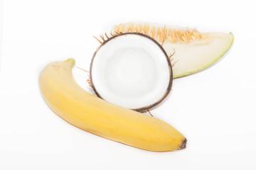 банан, дыня и кокос