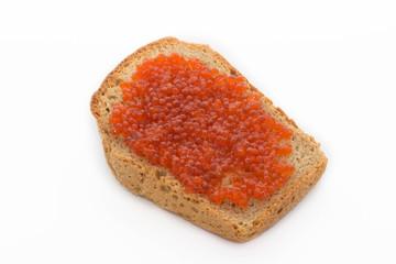 хлеб с красной икрой
