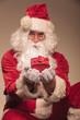 Santa Claus giving you a present