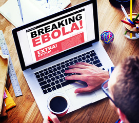 Online Breaking News Headline Ebola Concepts