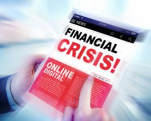 Online News Headline Financial Crisis Concepts