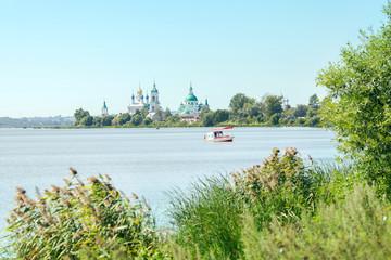 Spaso-Yakovlevsky Monastery in Rostov city on lake coast of Nero