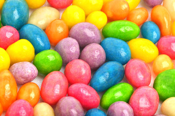 Multycolored sweet bright dragee background