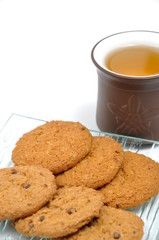 Macro cookies and chinese tea