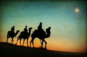 Three Kings Desert Star of Bethlehem Nativity