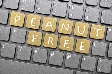 Peanut free key on keyboard