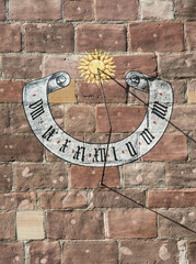 Beautiful historic sundial