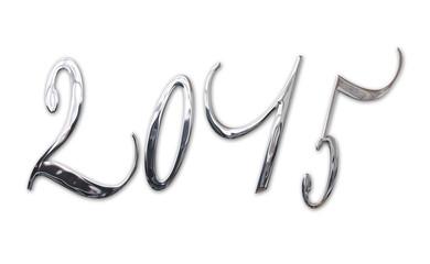 2015, elegant shiny 3D silver, metal letters