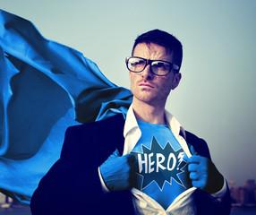 Superhero Businessman Hero Comic Explosion