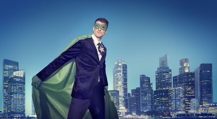 Powerful Business Superhero Cityscape Concepts