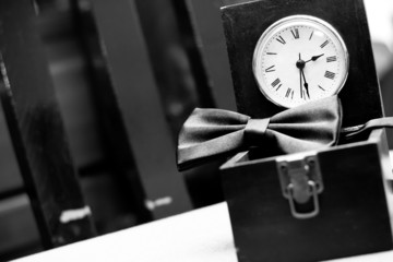 Bowtie and clock