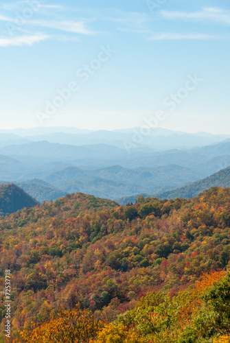 Great Smoky Mountain Autumn Panorama II