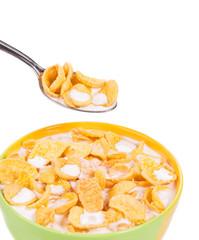 bowl of corn flakes.