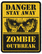 Zombie. Warning sign. Hand drawn. Vector illustration eps8 - 72538156
