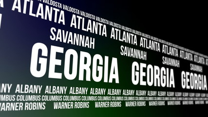 Georgia State and Major Cities Scrolling Banner