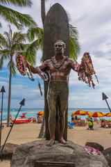 The Duke Kahanamoku statue in Waikiki