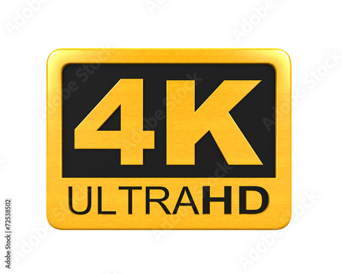 Ultra HD 4K icon - 72538502