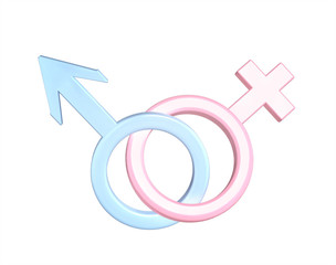 Two symbols - male and female