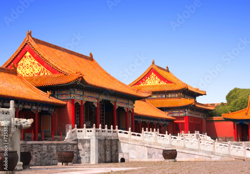 Keuken foto achterwand Beijing Ancient pavilions in Forbidden City, Beijing, China