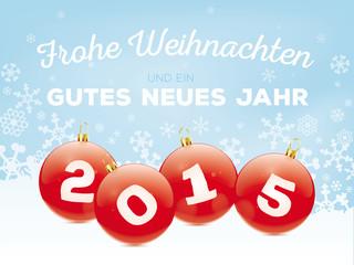 Grußkarte Weihnachten und Neujahr 2015