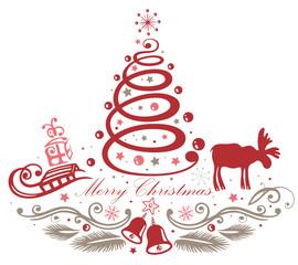 Weihnachtsbaum, Weihnachten, Elch