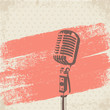 Retro Microphone Brush vector - 72539544