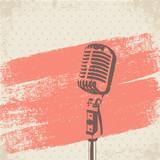 Fototapety Retro Microphone Brush vector