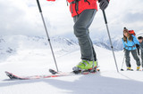 auf Skitour unterwegs