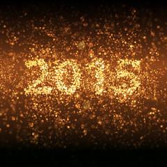 Happy new year 2015, easy editable