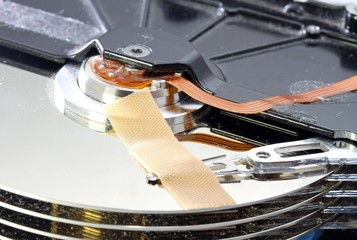 hard disk failure with a band-aid over disks