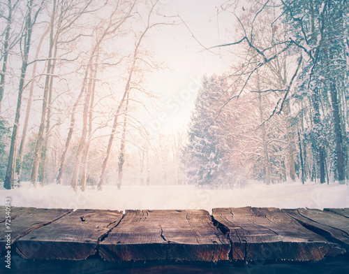 canvas print picture Winter background